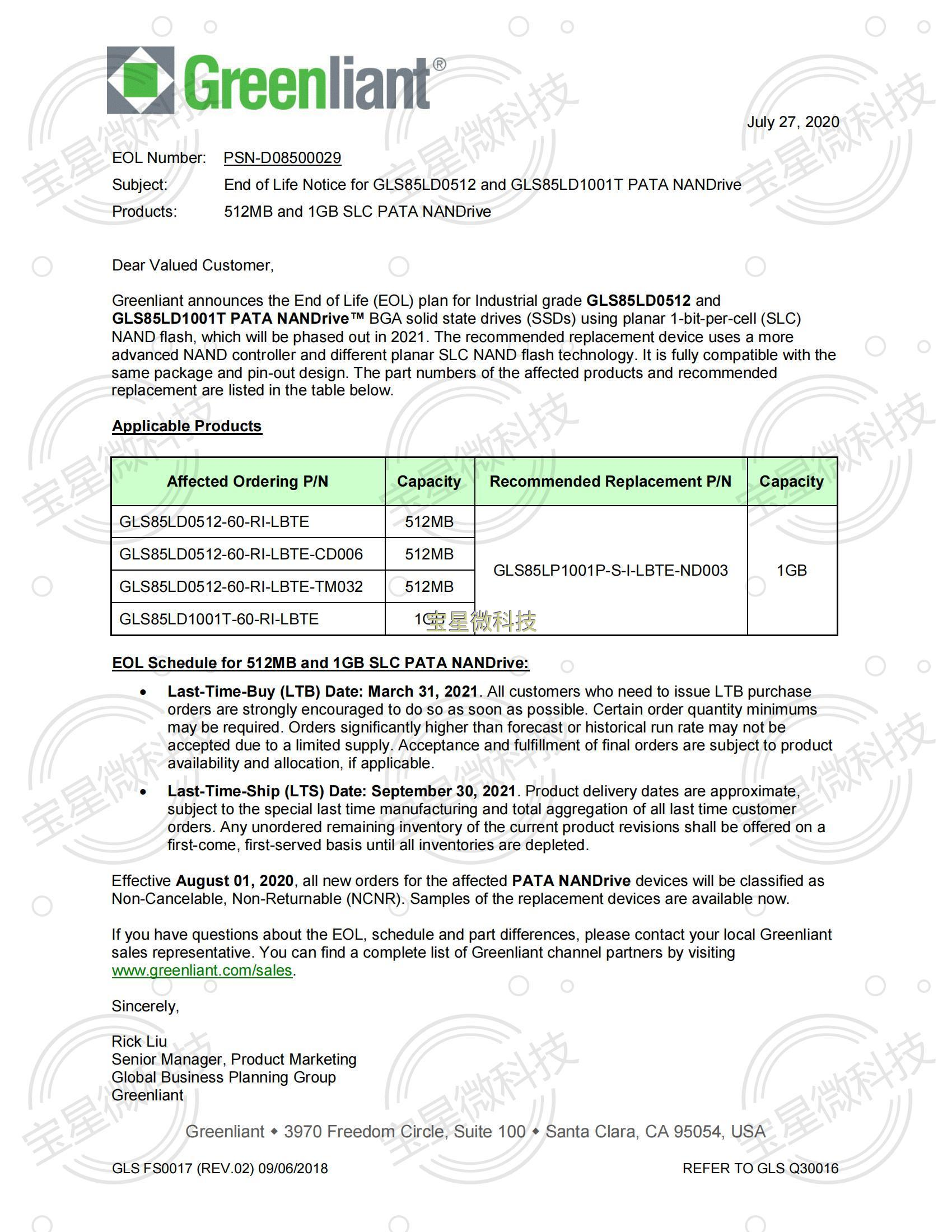 PSND08500029_EOL_for_GLS85LD_512MB1GB_SLC_PATA_NANDrive_July2020_00